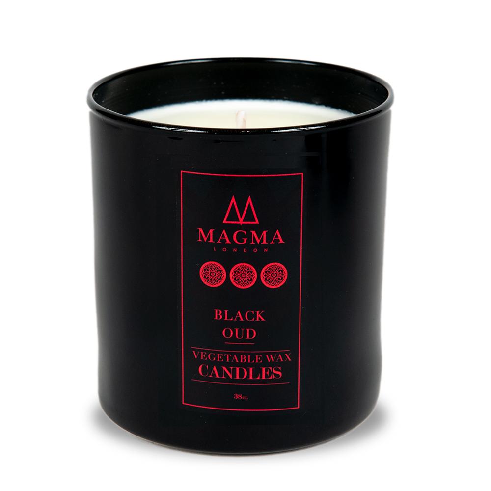 Magma Londres-De Luxe Bougie Parfumée-Boîte Cadeau Deluxe-Black Oud 38 cl