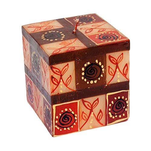 Kapula Cube Candle  Lavender Design  5 x 5 x 11 cm